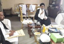 قائد ملت جعفریہ پاکستان سے قم کے علماء کے وفد کی خصوصی ملاقات