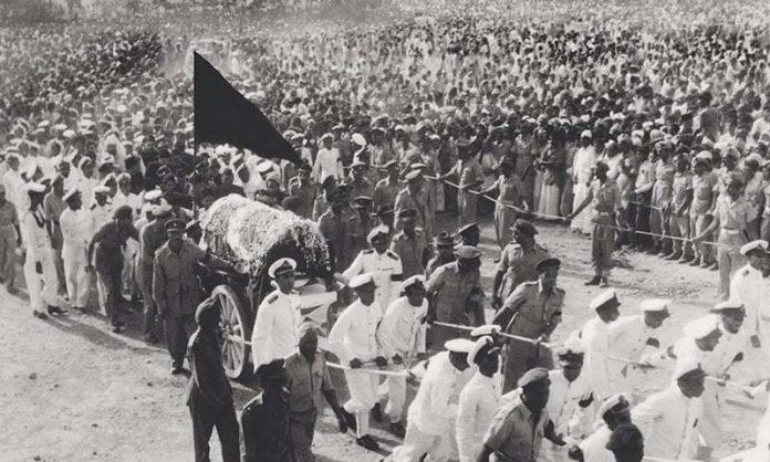 ٘محمد علی جناح رحمۃ اللہ علیہ کا جنازہ