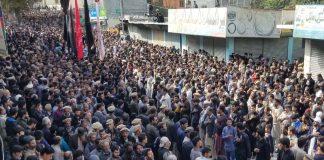 گلگت چہلم شہدائے کربلا پر لاکھوں عزادار جلوس عزا میں شریک