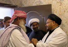 شیعہ علماء کونسل سندھ کے رہنما علامہ ناظر تقوی سے سنی عمائدین کی ملاقات