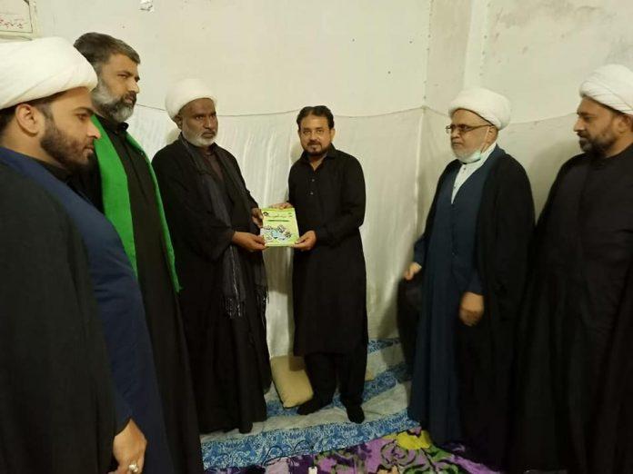 دفترقائد ملت جعفریہ نجف اشرف عراق میں ظفر عباس ظفر کی اراکین کابینہ دفتر قائد سے ملاقات